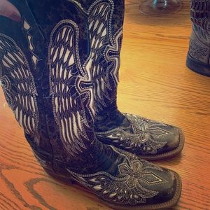 Black corral boots